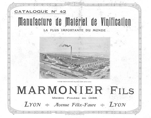 Photo pressoir wine press usine MARMONIER PMH Vinicole