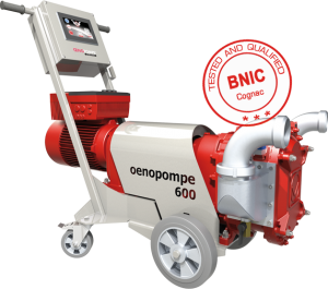 Wine pump OENOPOMPE 600 tested qualified by bnic cognac