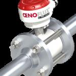 Volucompteur / débitmètre OENOFLUX intégré sur une pompe à vin à lobes