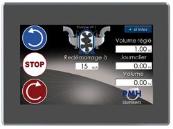 écran smartpompe tactile couleur